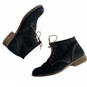 Josef Seibel Hippo Schwarz Black Ankle Tie-Up Boot